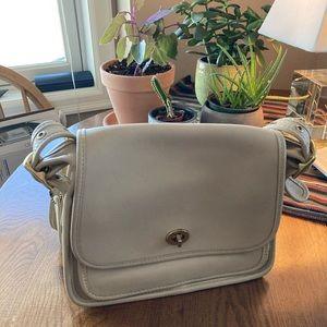 Vintage Coach Saddle bag - Tan